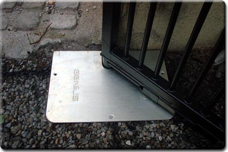 Underground Motor Housing with Stainless Steel cover Plate used on Swing Gates.