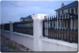 Decorative Railings with Full/Half Collars Fitted to Wall.